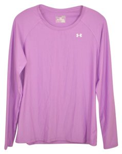 Under Armour Purple Crew Neck Heat Gear Fitted