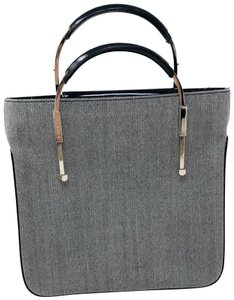 Lancel Tote in black and white tweed