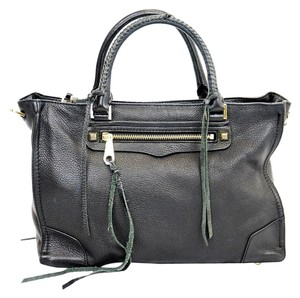 Rebecca Minkoff Regan Leather Satchel in Black