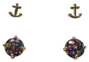 Kate Spade Kate Spade Glitter Gumdrop Earrings and Gold Anchors