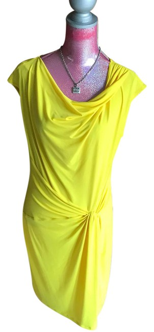 Preload https://img-static.tradesy.com/item/20529824/michael-michael-kors-yellow-draped-knee-length-workoffice-dress-size-12-l-0-1-650-650.jpg