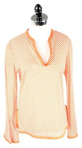 Tory Burch Top Orange and White