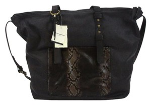 Lucky Brand Python Tote in Black