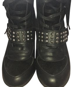 Bakers Black with silver studs Wedges