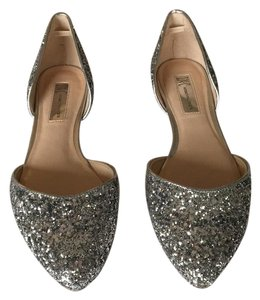 INC International Concepts Silver glitter Flats