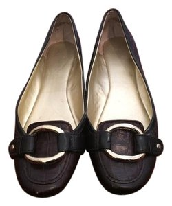 Nine West Leather Brown Flats