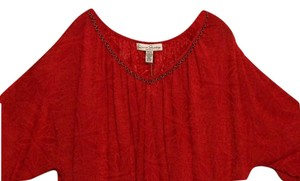 French Laundry 18 20 Plus Sheer Top red