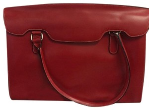 Lodis Leather New Tote in Red