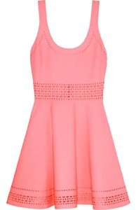 Elizabeth and James Crepe Stretchy Perforated Sleeveless Dress