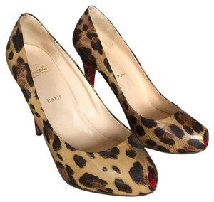 Christian Louboutin cheetah Platforms