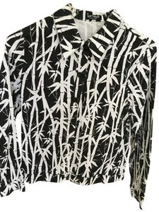 Software Patterned Cotton black and white Jacket