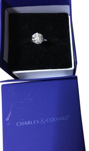 4 Carat Authentic Charles And Colvard Moissanite 4 Carat Platinum Ring 4 Ct Round Moissanite Solitaire Engagement Ring