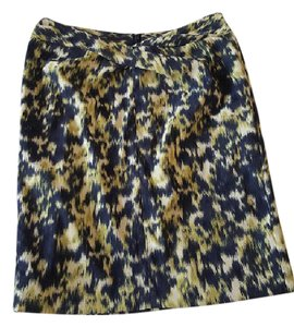Michael Kors Pencil Skirt Blue Yellow Cream