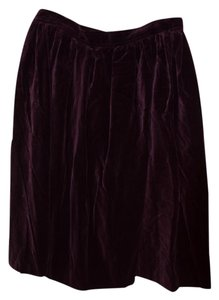 Saint Laurent Yves Skirt Eggplant