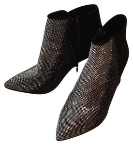 franco Russo black and silver Boots