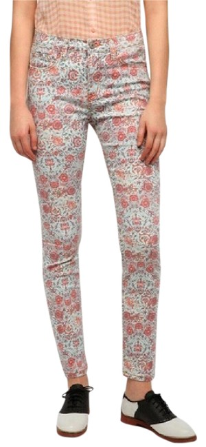 Urban Outfitters Pastel Floral Cigarette High Rise Skinny Jeans Size 28 (4, S) Urban Outfitters Pastel Floral Cigarette High Rise Skinny Jeans Size 28 (4, S) Image 1