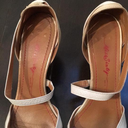 Miss Sixty Ivory Gold Mettalic Pumps Image 1