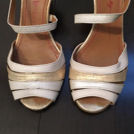 Miss Sixty Ivory Gold Mettalic Pumps Image 2