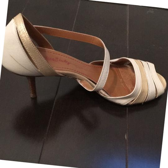 Miss Sixty Ivory Gold Mettalic Pumps Image 4