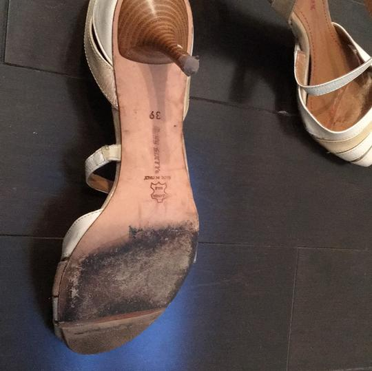 Miss Sixty Ivory Gold Mettalic Pumps Image 7