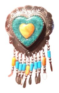 Other Southwestern Sterling silver pin
