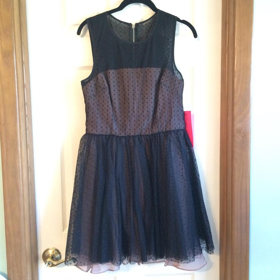 Betsey Johnson Black Perfect Overlay Party Short Cocktail Dress Size ...