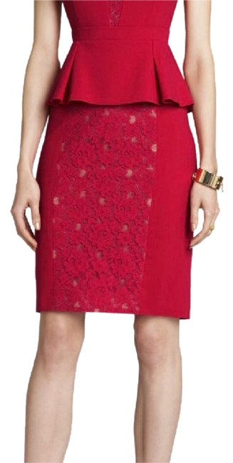 Item - Lipstick Red Ives Lace Mid-length Work/Office Dress Size 2 (XS)
