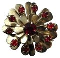 Other ruby carnation flower brooch Image 0