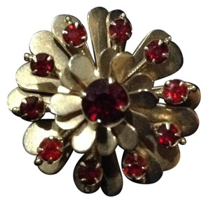 Other ruby carnation flower brooch