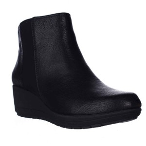 Easy Spirit Ankle Wedge Pull On Black Boots