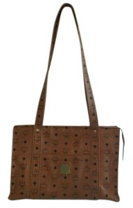 MCM Monogram Tote in Tan/Black