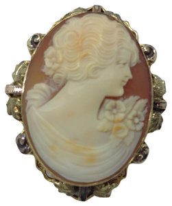 Other 12k gold fill carved cameo brooch pendant