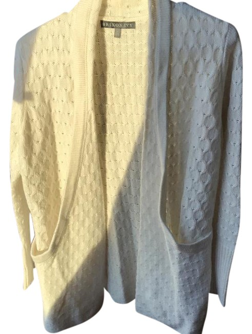Item - Cream Lawley Cable Knit Cardigan Size 8 (M)