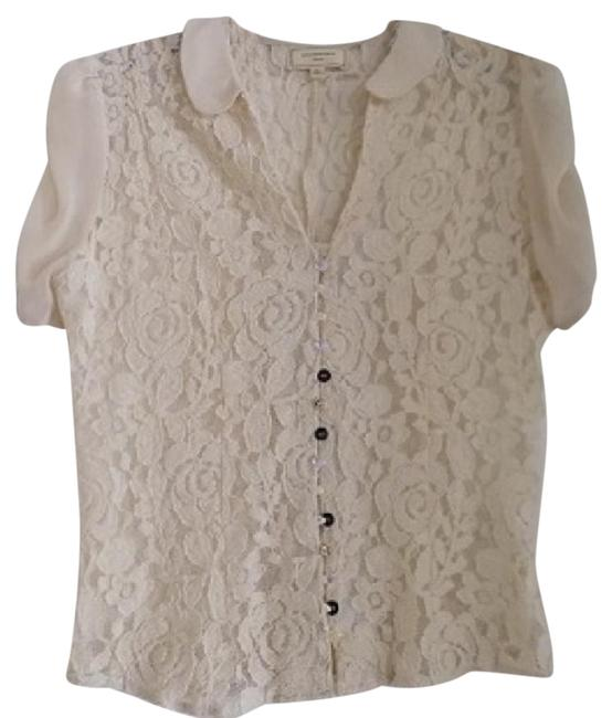 Anthropologie Top Ivory Image 1