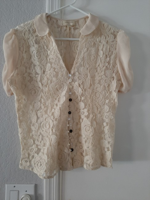 Anthropologie Top Ivory Image 7