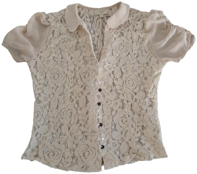 Anthropologie Top Ivory Image 0