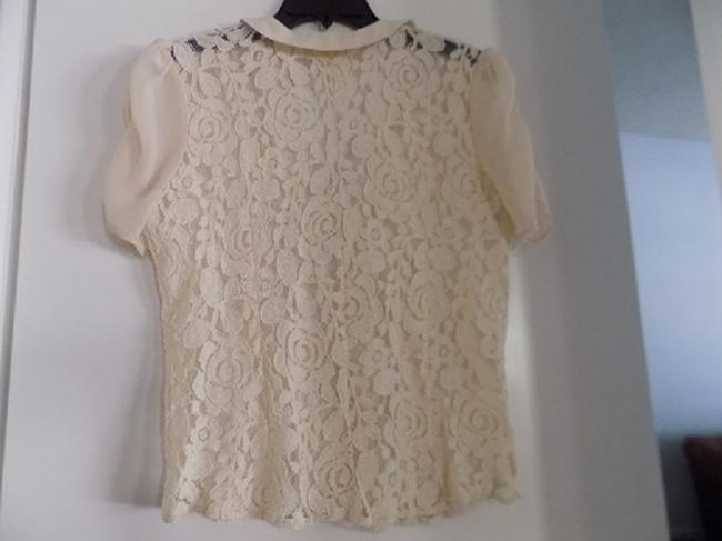 Anthropologie Button Down Shirt Ivory
