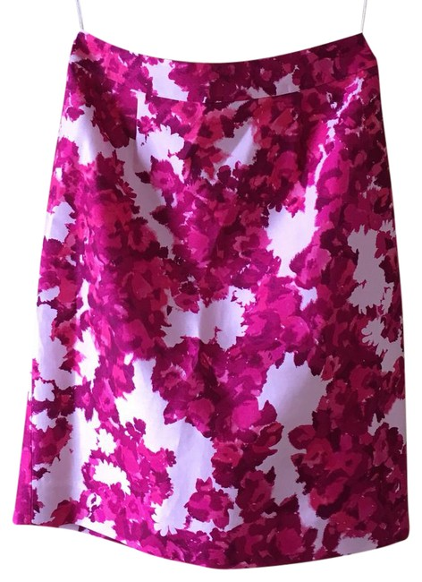 Item - Pink and White Floral Skirt Size 6 (S)