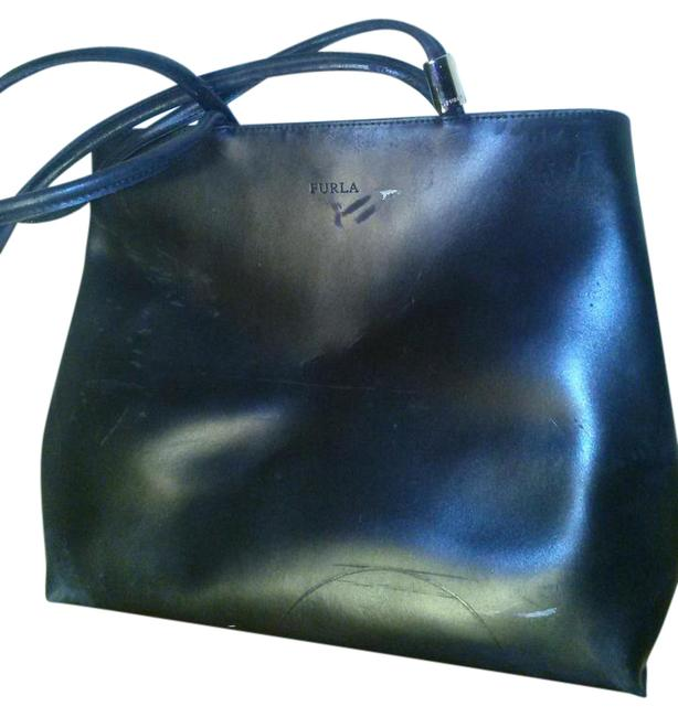 Furla Made In Italy Black Leather Tote Furla Made In Italy Black Leather Tote Image 1