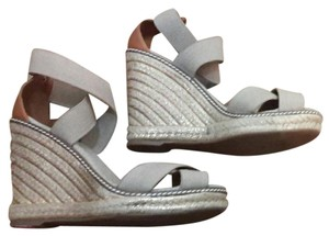 Tory Burch Gold Natural Espadrilles Wedges