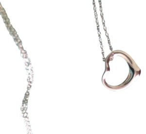 Tiffany & Co. Silver Floating Heart Necklace