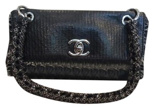 Chanel Leather Classic Tweed Shoulder Bag