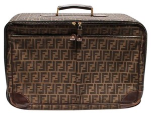 Fendi Travel Handbag Duffle Monster Shirt Brown Travel Bag