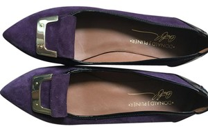 Donald J. Pliner purple, black Flats