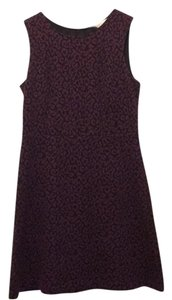Ann Taylor LOFT short dress black and fuschia on Tradesy