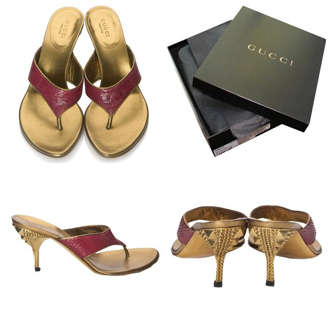 Gucci New Tom Ford Final Collection Runway Snakeskin Heels Mules/Slides Size US 6 Regular (M, B) Gucci New Tom Ford Final Collection Runway Snakeskin Heels Mules/Slides Size US 6 Regular (M, B) Image 1