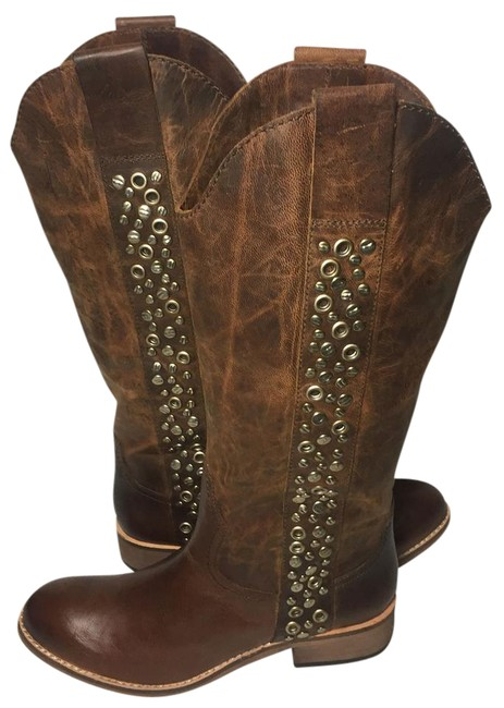Lucchese Brown Spirit By Avery Grommet Cowgirl Women's Boots/Booties Size US 6.5 Regular (M, B) Lucchese Brown Spirit By Avery Grommet Cowgirl Women's Boots/Booties Size US 6.5 Regular (M, B) Image 1