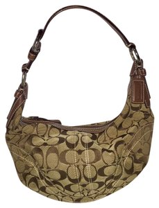 Coach Classic Signature Lightly Worn Hobo Bag