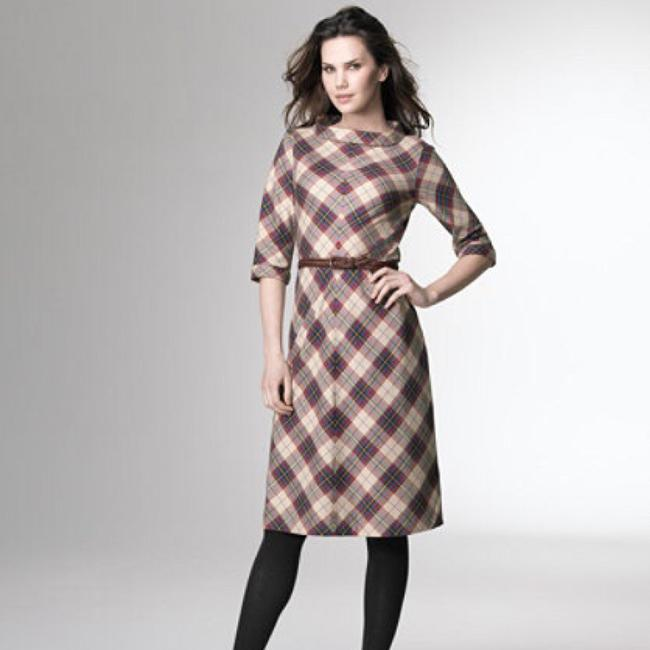 Preload https://item2.tradesy.com/images/llbean-plaid-tan-brown-red-blue-green-and-yellow-mid-length-workoffice-dress-size-8-m-20531121-0-2.jpg?width=400&height=650