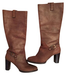 Nicole Leather Bronze Boots